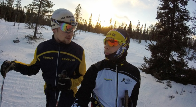 Bror Jesper och jag i vintriga Grövelsjön. Snart kanske han flyttar till Falun. Det vore väl kul?
