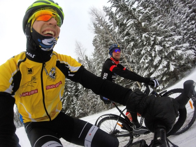 Ut på vintercykeltur med Bleckur, aldrig sur!