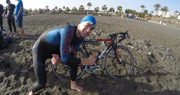 Min nya BMC SLR01.. Mer om den sjukt snabba cykeln senare! Ja, jag har kedjan på lilla klingan fram. Orkade inte cykla på stranden annars...